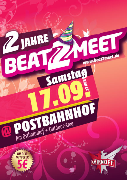 Flyer Beat2Meet @ Postbahnhof 17.09.2011