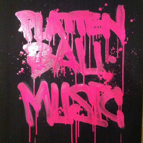 Leinwand Plattenbau-Music
