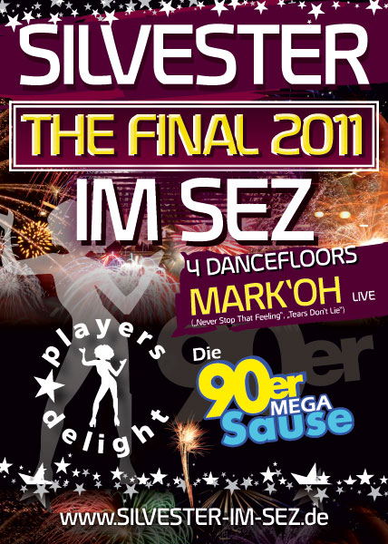 Flyer Players Delight und Die 90er Mega Sause im Sez Berlin 31.12.2011