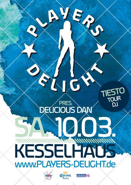 Players Delight Flyer-Gestaltung Kesselhaus 10. März