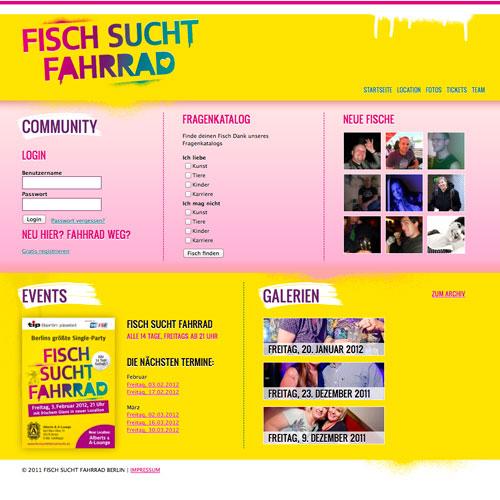 Webdesign Fisch sucht Fahrrad