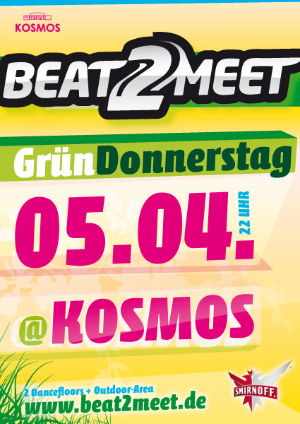 Design Beat2Neet 05. April 2012 im Kosmos