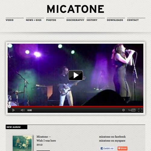 Micatone Webseite