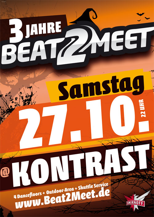 Flyer Beat2Meet im Kontrast, Berlin 27.10.2012