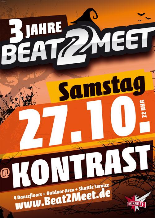 Flyer Beat2Meet im Kontrast, Berlin 27.10.2012