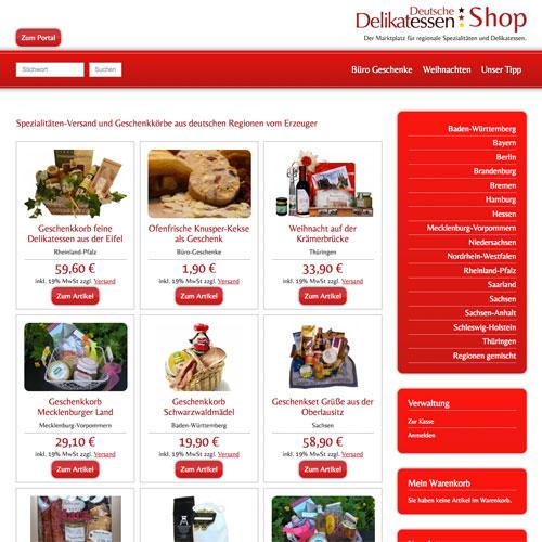 Deutsche-Delikatessen Magento Shop-Design