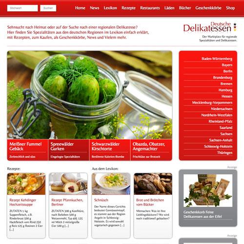 Deutsche-Delikatessen Web-Design