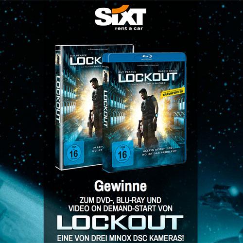 Sixt Gewinnspiel zum Film Lockout Cover