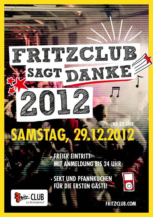 Fritzclub sagt Danke 2012 im Fritzclub, Berlin 29.12.2012