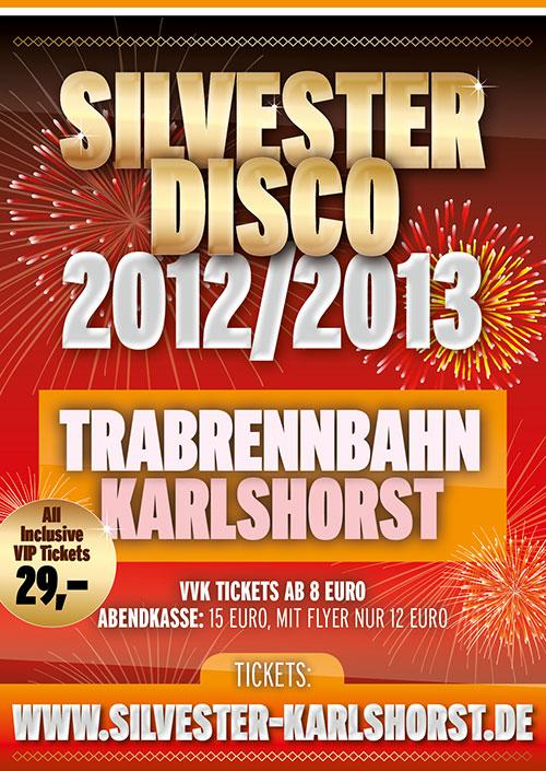 Silvesterdisco 2012/2013 in der Trabrennbahn Karlshorst, Berlin 31.12.2012
