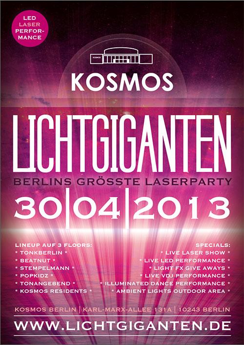 Lichtgiganten 30.04.2013 Kosmos Berlin
