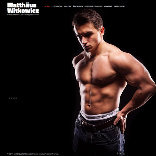 Matthäus Witkowicz Web-Design with Slider für Fitness Model