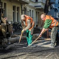 Baustellen Fotografie Strassenbau Strasse bauen