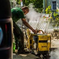 Dahlhoff-Bau Asphalt festigen Bomag