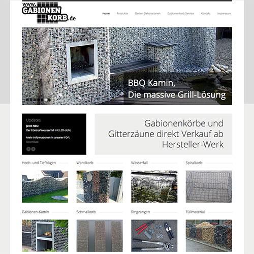 Gabionenkorb Gabionen online