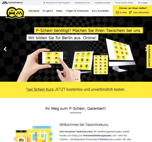 Taxischein - Jetzt P-Schein in Online Taxischule machen - Taxischein Kurs